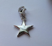 Sterling Silver Clip-on Star Charm